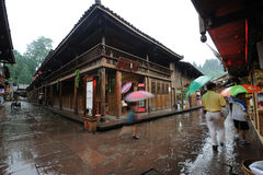 Chinese shangli old  town Stock Photos