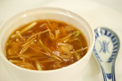 Chinese sharks fin soup Royalty Free Stock Photo