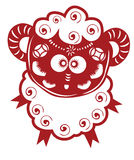 Chinese sheep paper cut Stock Photo