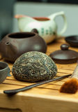 Chinese shen puer tea stock image