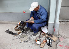 Chinese shoemaker Royalty Free Stock Image
