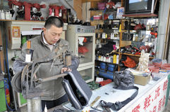 Chinese shoemaker Royalty Free Stock Photography
