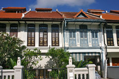 Chinese Shophouses Stock Foto's