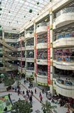 Chinese shopping center. Multilevel interior of the shopping center in Shenyang, China Royalty Free Stock Photography