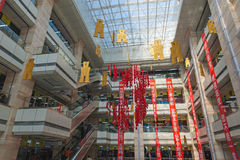 Chinese shopping center. Multilevel interior of the shopping center. Shenyang city, Liaoning province, China Royalty Free Stock Photo