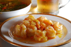 Chinese Shrimp dish. Chinese food shrimp dish chilly sauce Stock Photos