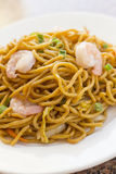 Chinese Shrimp Lo Mein. Delicious chinese food, shrimp Lo Mein stir fry stock photography