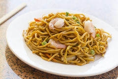 Chinese Shrimp Lo Mein. Delicious chinese food, shrimp Lo Mein stir fry royalty free stock photography