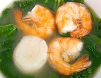 Chinese shrimp soup Royalty Free Stock Image