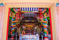 Chinese shrine door Stock Photography