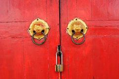 Chinese shrine door Stock Photos