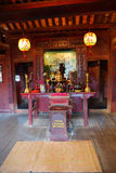 Chinese shrine with incense sticks Royalty Free Stock Images