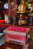 Chinese shrine with incense sticks Royalty Free Stock Photography
