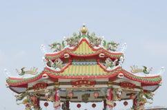 Chinese Shrine. And sky background Royalty Free Stock Image