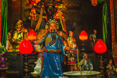 Chinese shrine statues of ancestors and gods royalty free stock photography