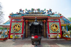 Chinese shrine temple. In Loei province, Thailand stock images