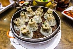 Chinese Shumai-Bollen stock afbeelding
