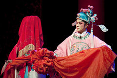 Chinese Sichuan opera actors Royalty Free Stock Photos