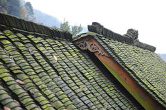 Chinese Sichuan tile roofed house Royalty Free Stock Images