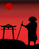 Chinese silhouette. stock illustration