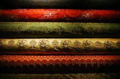 Chinese silk. A pile of Chinese silk Royalty Free Stock Photos