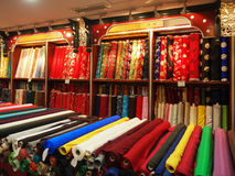 Chinese Silk. In store,Beijing Royalty Free Stock Image