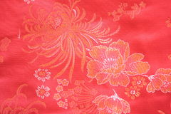 Chinese silk fabric Stock Images