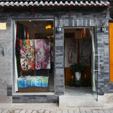 Chinese silk shop. The chinese silk shop at beijing stock photo
