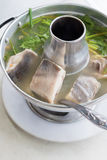 Chinese silver pomfret soup Stock Photos