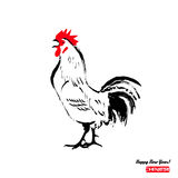 Chinese simbol of 2017 - rooster. Chinese sign for the year of rooster 2017 isolated on white background. Vector illustration Stock Photos