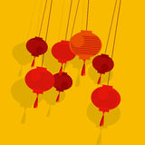 Chinese simple lantern Stock Images