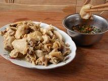 Chinese siu mei witte gesneden kip met saus Royalty-vrije Stock Foto