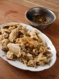 Chinese siu mei witte gesneden kip met saus Stock Foto
