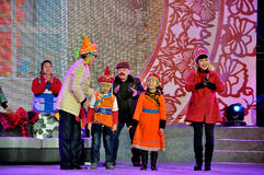 Chinese Sketch Somedy Performance on Lantern Festival Royalty Free Stock Photography