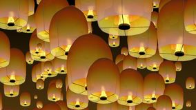 Chinese sky lanterns. royalty free illustration
