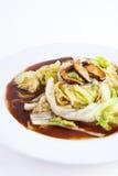 Chinese sla met Oester Sauce9 Stock Afbeeldingen