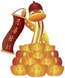 Chinese Slang met de Banner van de Hoed en Goudstaven Royalty-vrije Stock Foto