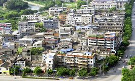 Chinese slum area district Stock Image