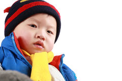 A chinese small child's face Royalty Free Stock Image