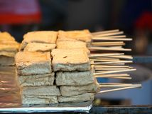 Chinese Smelly Tofu Snack Stock Images