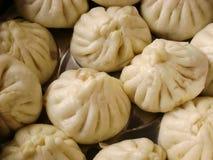 Chinese snack gestoomde varkensvleesbroodjes royalty-vrije stock afbeeldingen