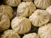Chinese snack steamed pork buns Royalty Free Stock Images