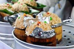 Chinese snacks bamboo rice Royalty Free Stock Photos