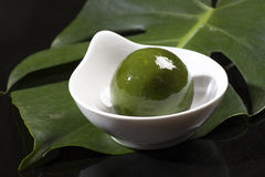 Chinese snacks, green dumpling Royalty Free Stock Photo