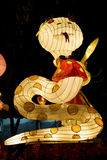 Chinese Snake Animal Zodiac Lantern Stock Image