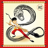 Chinese Snake New Year. An Illustration Of Chinese Snake New Year. Useful As Icon, Illustration And Background For Chinese New Year Theme stock illustration