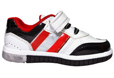 Chinese sneaker with red stripes Royalty Free Stock Images