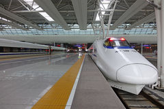 Chinese snelle trein CRH Stock Foto