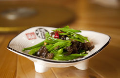 Chinese Snowpea and Mushroom Stir Fry Royalty Free Stock Photos