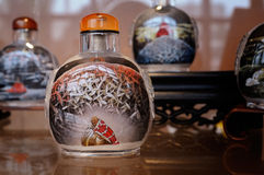 Chinese snuff bottle with inner painting royalty free stock images